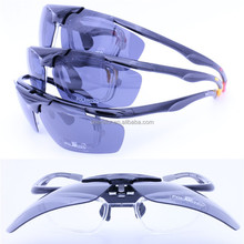 Wholesale new style 4 degree bending flip up sorpting polarized sunglasses with inner prescription frame