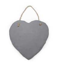 vintage heart slate stone hanging chalk message board