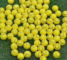 Smile Printing Yellow Balls Bulk Mini Toy
