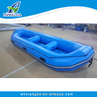 Double layer bottom inflatable life raft