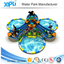 Commercial Kids Inflatable Water Park Equipment With Pool Slides