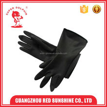 Black Industry Rubber Latex safety Glove