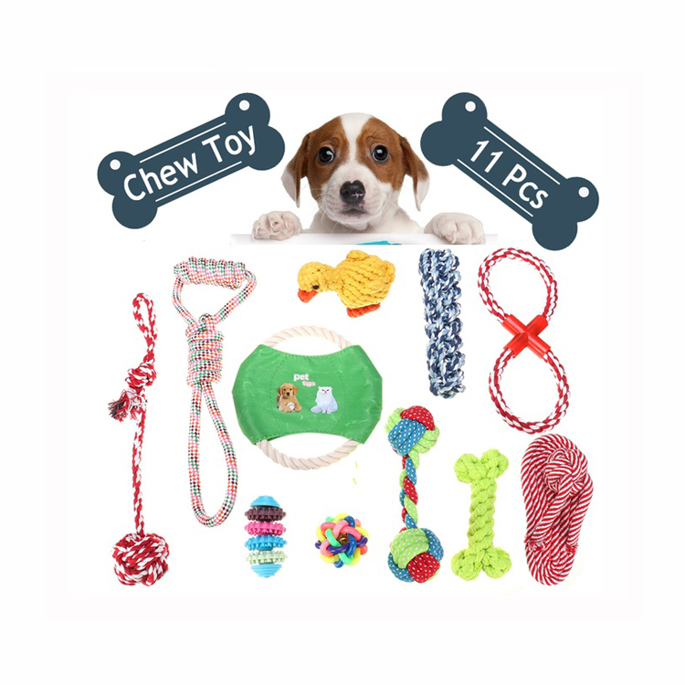 Custom Professional Cheap Durable Organic Soft Dog Rope gift toys for <strong>Pet</strong> Chew Activity Toys 10 Set Pack 2018 Wholesale
