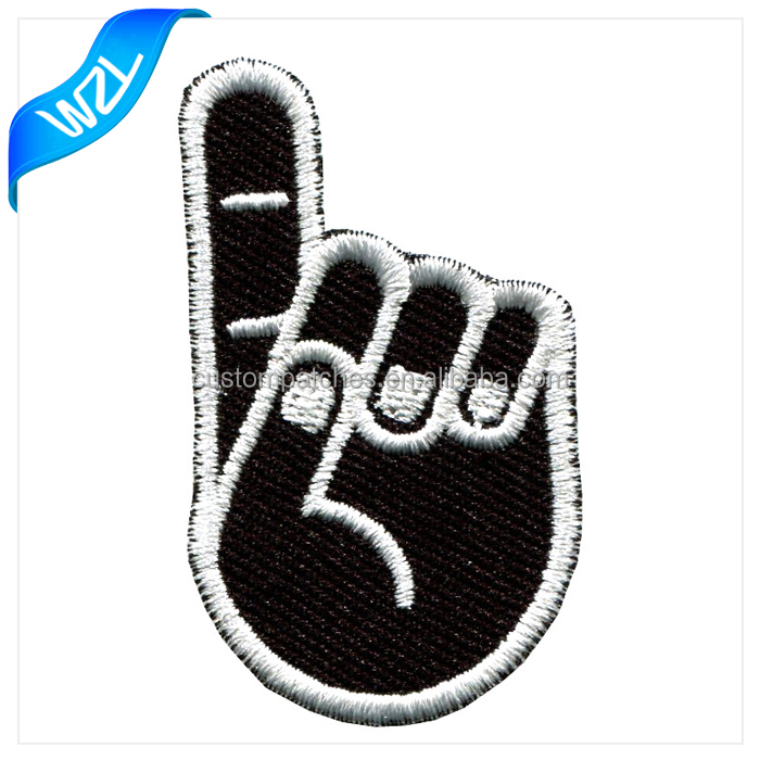 Customized any shaped sew on polo/ t-shirt/jeans clothing embroidery fabric textile patch