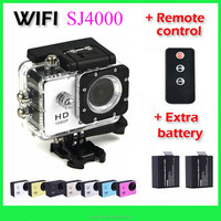 Hot sale sport camera sj4000 remote 30M Waterproof, sj4000 with remote control, full hd 12mp 1080p wifi