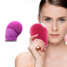 Waterproof massager electric facial brush silicone face brush vibration cleansing tool