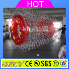 Colorful plastic inflatable rolling tubes/inflatable water roller/big water walking ball