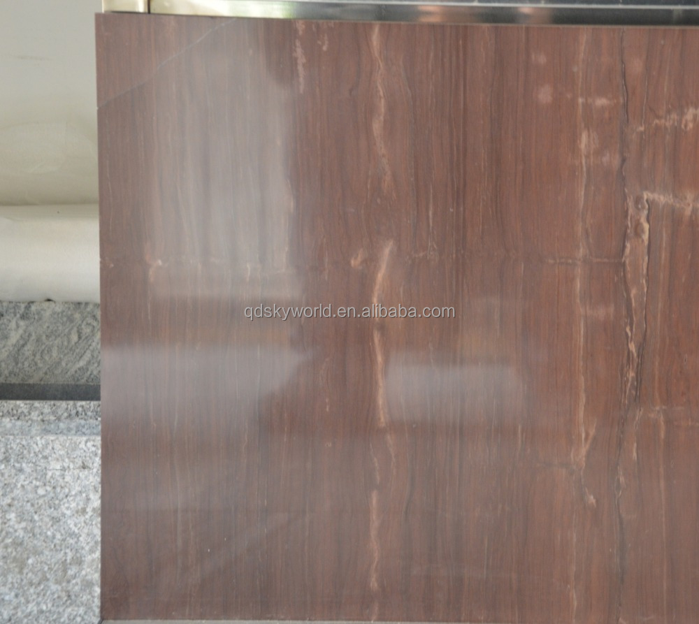 Red vein marble cloudy red marble polished