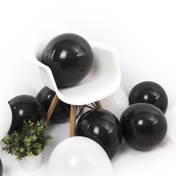 12 Inch 2.8 Grams Black White Latex Balloon  Black Balloon Air Helium Globos For Party Wedding  Decoration Party Supplies