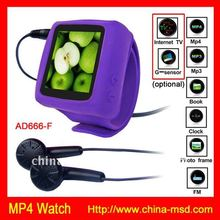 lady's cheaper mp3/mp4 fun watch with FM and memory card