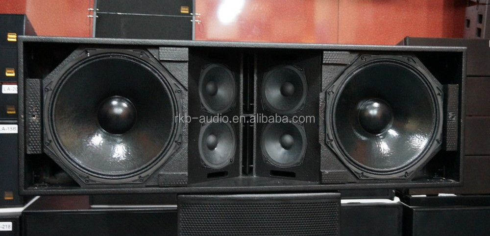 LA-215 3-way outdoor speaker box/dual 12'' speakers professional