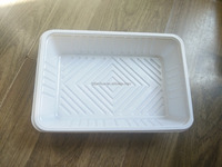 hot sale food grade white PS disposable plastic frozen food tray