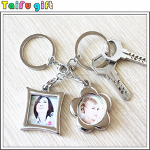 2016 cheap promotion mini metal digital photo frame keychain