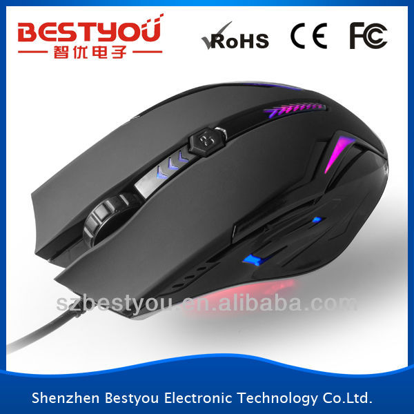 6D Fashional Design Hot Sale Optical Wired gaming mouse cheap price
