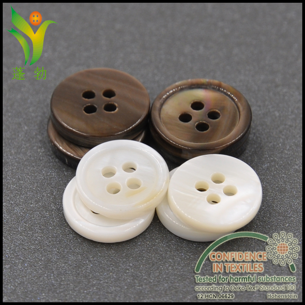 BK003 4holes natural shell buttons