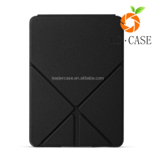 High Quality Cross Pattern PU Leather Cover Case For Amazon Kindle oasis