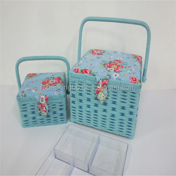 Make your own hand sewing basket/ high quality hand sewing basket needles kit/fabric sewing storage basket