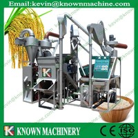Automatic 1100kg/h diesel engine rice milling machine