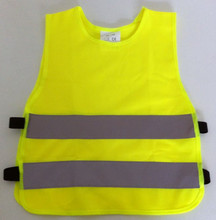 High visible chidern's safety vest with EN 1150 tape for reflex children's vest