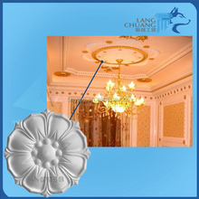 Fireproof Architectural Decorative Materials Gypsum Plaster Ceiling Rosette