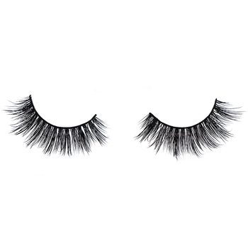 Hot selling handmade reusable regular mink fur lashes for makeup