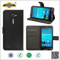 Geniune leather with stand function wallet case leather flip cover for asus zenfone 2/2E