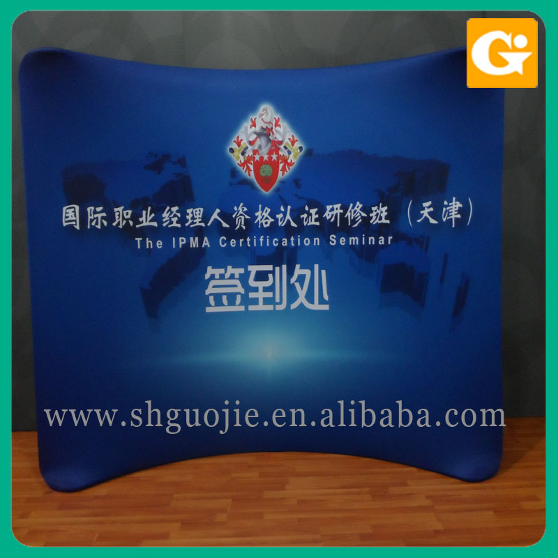 English Blue Film Pop Up Wall Banner Stands