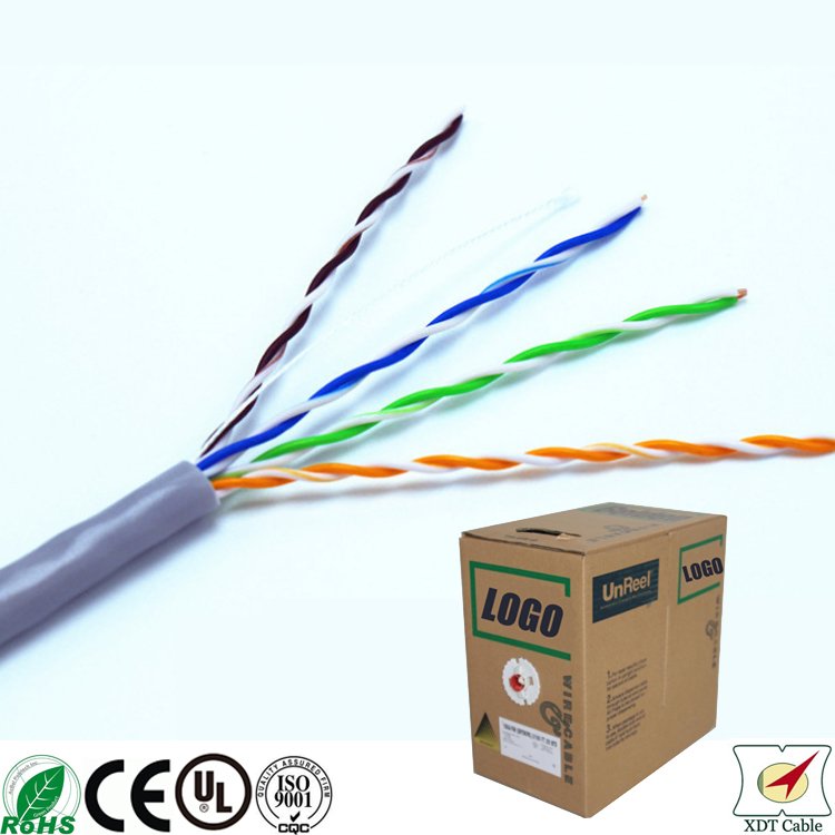 High quality 305m Computer use 4 Twisted Pair CCS unshielded ethernet cat5e cable