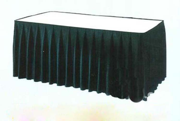 new fashion polyester rectangle table cloth /table skirt