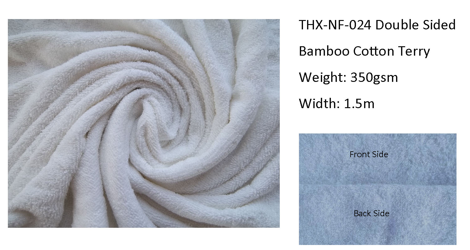 High Quality Eco-friendly Double Sided Bamboo Cotton Terry Fabrics