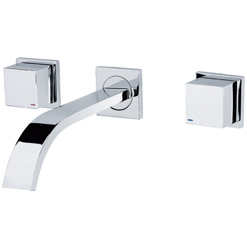 Factory price high quality wall mount faucet,chrome brass 2 way tap,hot cold water two way tap