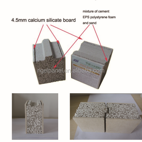 Calcium Silicate Bricks Light Reflecting : Low price eps cement sandwich panel caravan buy