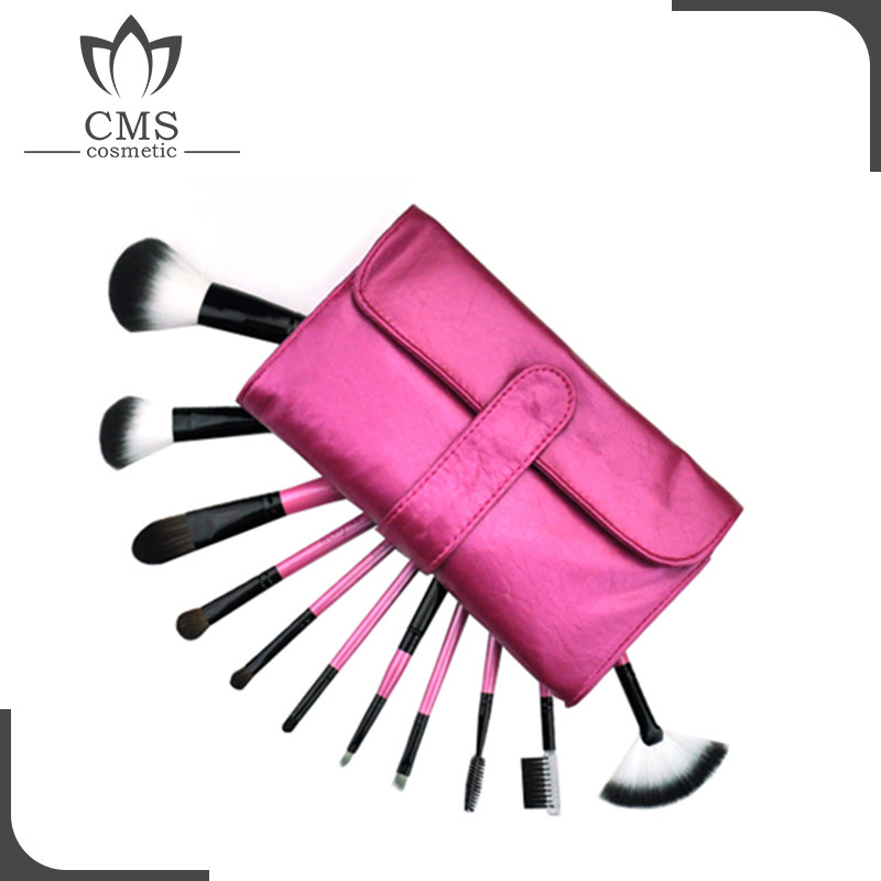 Professional 11 Pcs best cheap makeup brushes makeup brush roll make up brushes with low price