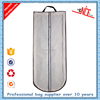 custom wholesale foldable zipper non woven garment bag for dresses with handles