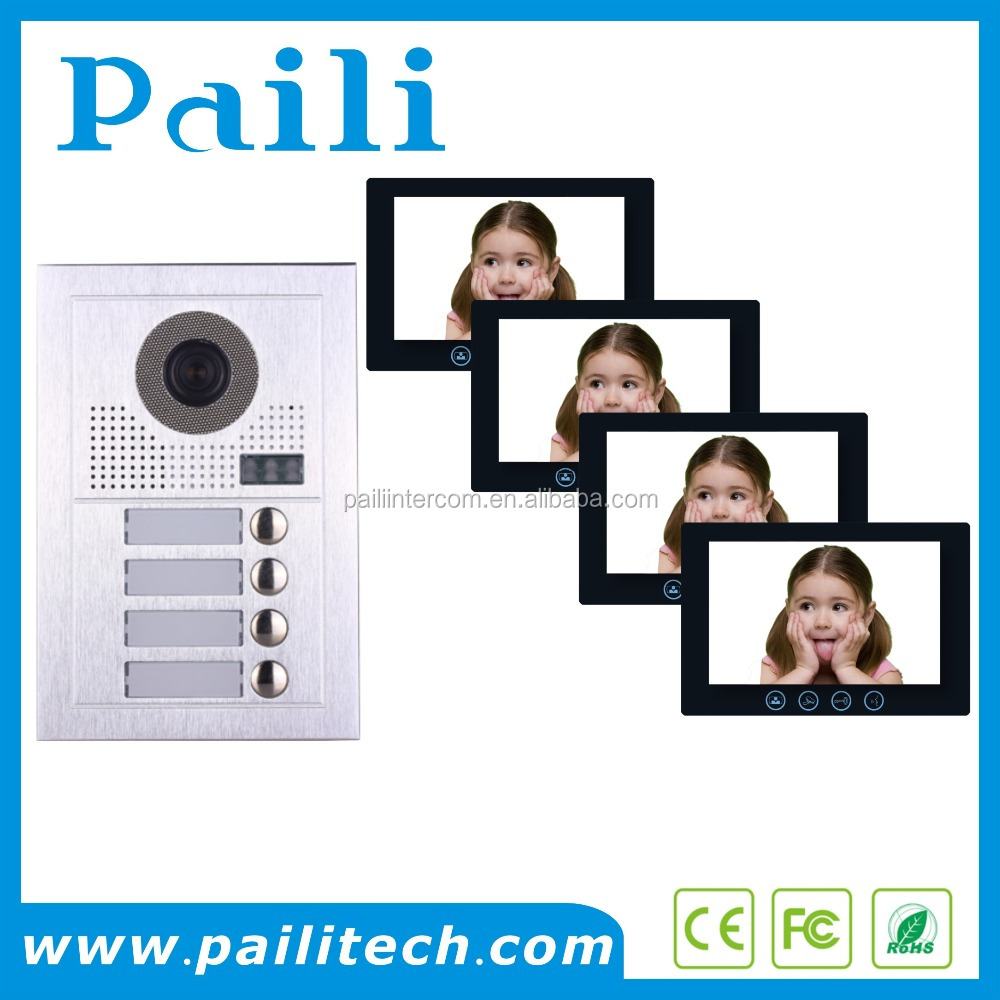 Handsfree and Handset Apartment Video Door Phone Doorbell Intercom System with Touch Button Video Intercom