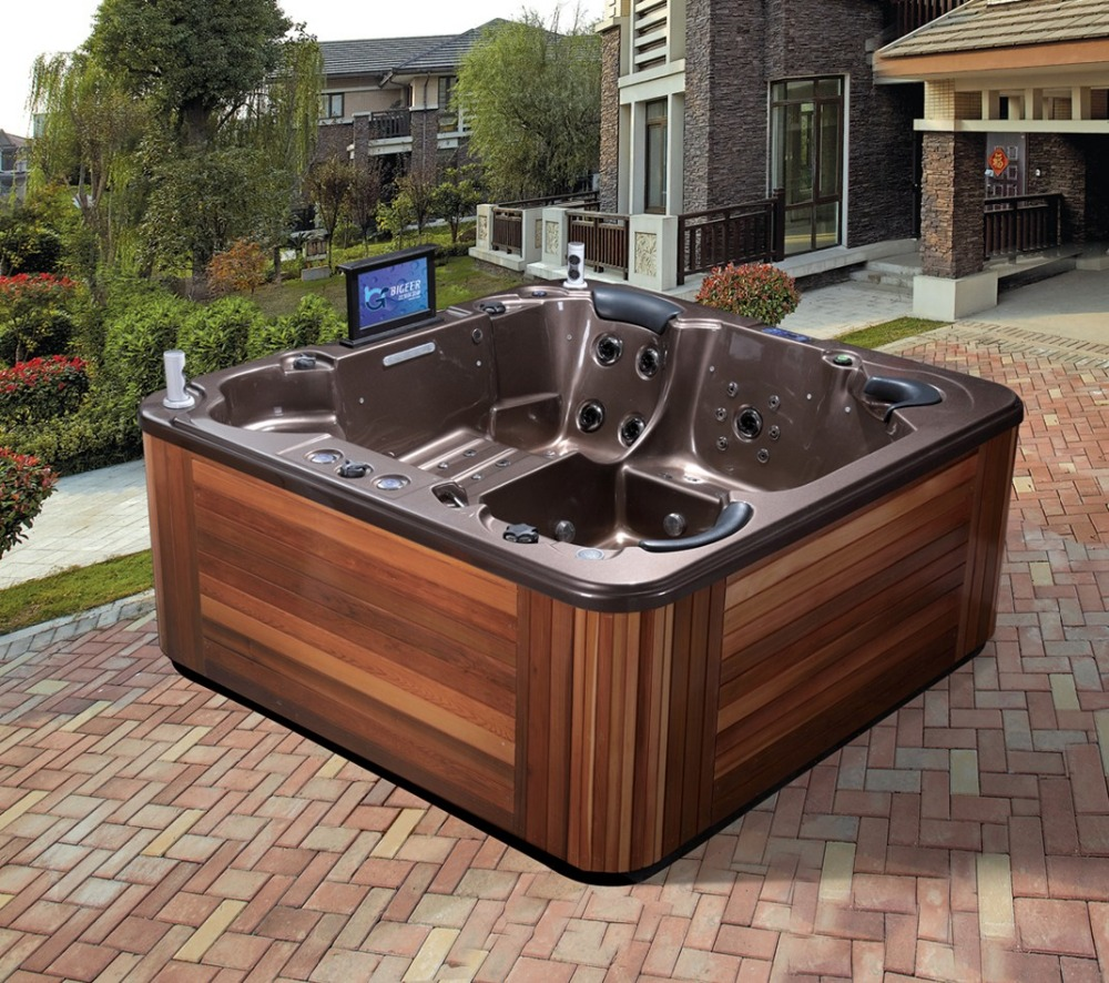 Villa garden bathtub outdoor inflatable luxurious whirlpool spa tub BG-8808