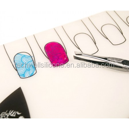 Silicone Stamping Mat For Nail Cosmetic