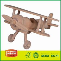 2016 new wooden toy airplane , interesting wooden toy airplane, children wooden airplane toy W04A199