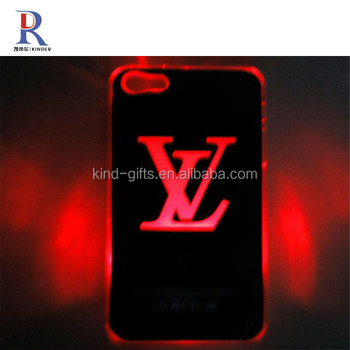 Auto Color Change LED Flash Light Hard Case Covers for iPhone