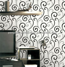 White and Black Color Design Wallpaper /Home Decoration Pieces Making
