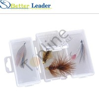 110*70*15mm cheap clear plastic fly fishing hook box made in china