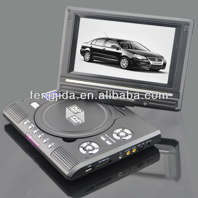 portable dvd player with usb/sd card reader mkv portable dvd player dvd portable gmc