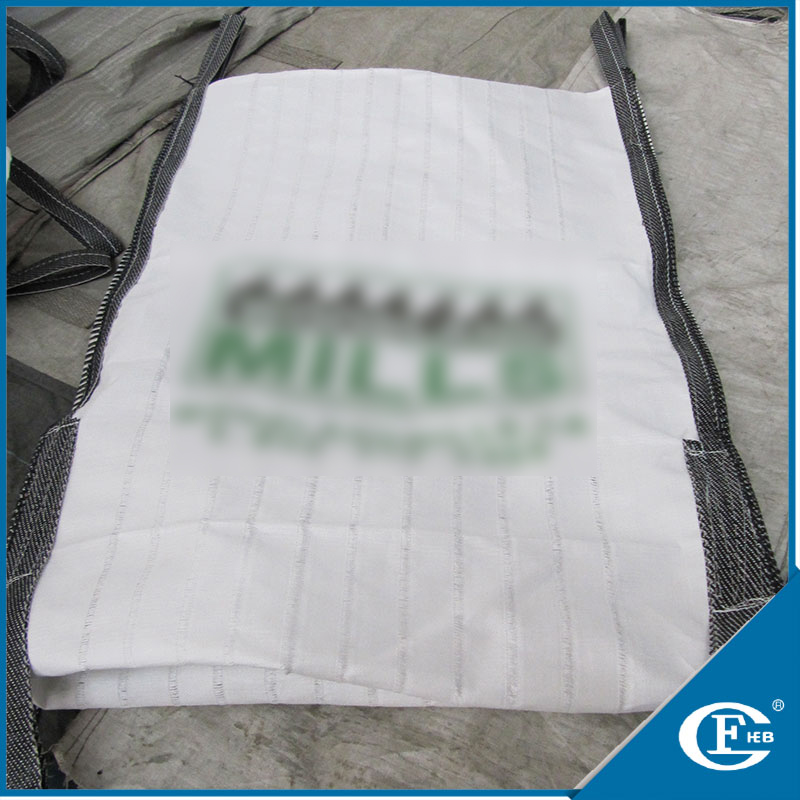 square bottom bag ventilated big bags for wood pellet packing for carbon black