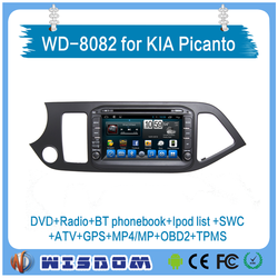 New wisdom for kia picanto car radio with android car dvd car multimedia player professional provider for 4s bluetooth wifi 3g