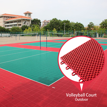 Guangzhou Topcourt Factory direct supply interlock pp volleyball floor mats