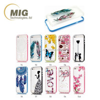 Transparent Painting Feather / Butterfly/ doughnut mobile phone case for iphone 6/ 6s plus + for samsung galaxy s6 note 5/ 4