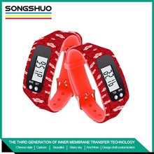 OEM pedometer silicone watch calories pedometer watch silicone sport bracelet heart rate monitor pedometer