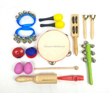 Toy Musical Instrument set kids music toy in PVC bag music band
