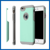 C&T Aqua+Grey Pc+ Silicone High Impact Defender Combo Hard Soft 2in1 Hybrid Case Cover for iPhone 6 6s