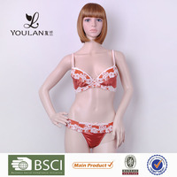 New Design Comfortable Young Girl Red Briefs Nylon Panties